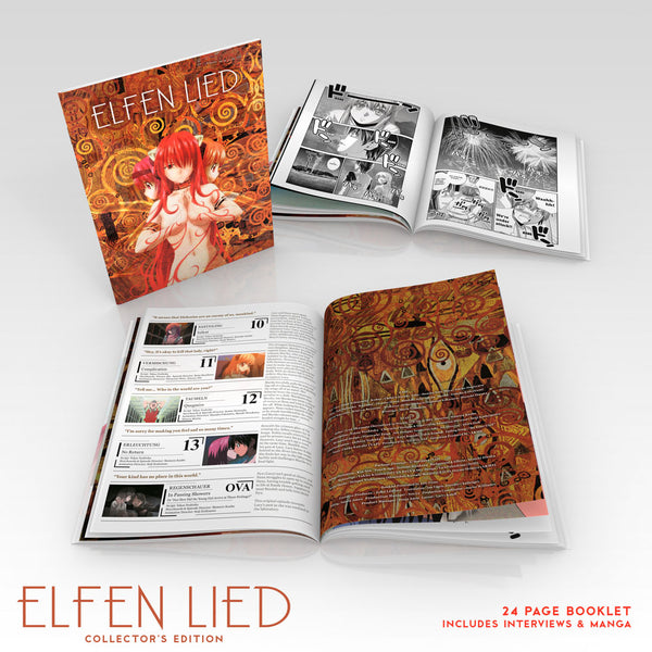 Elfen Lied Complete Collection [SteelBook Edition] Art Booklet