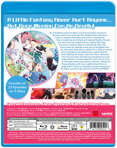 FLIP FLAPPERS! Complete Collection Blu-ray Back Cover