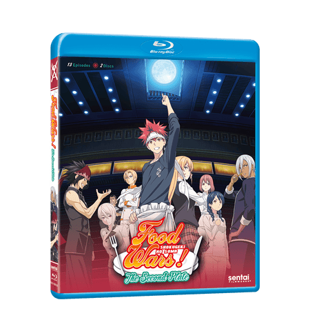 Food Wars! The Second Plate Complete Collection Blu-ray Front Cover