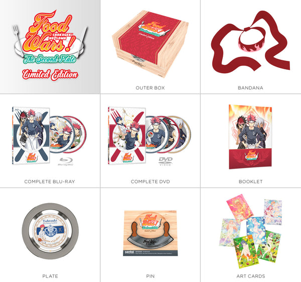 Food Wars! The Second Plate Premium Box Set Contents