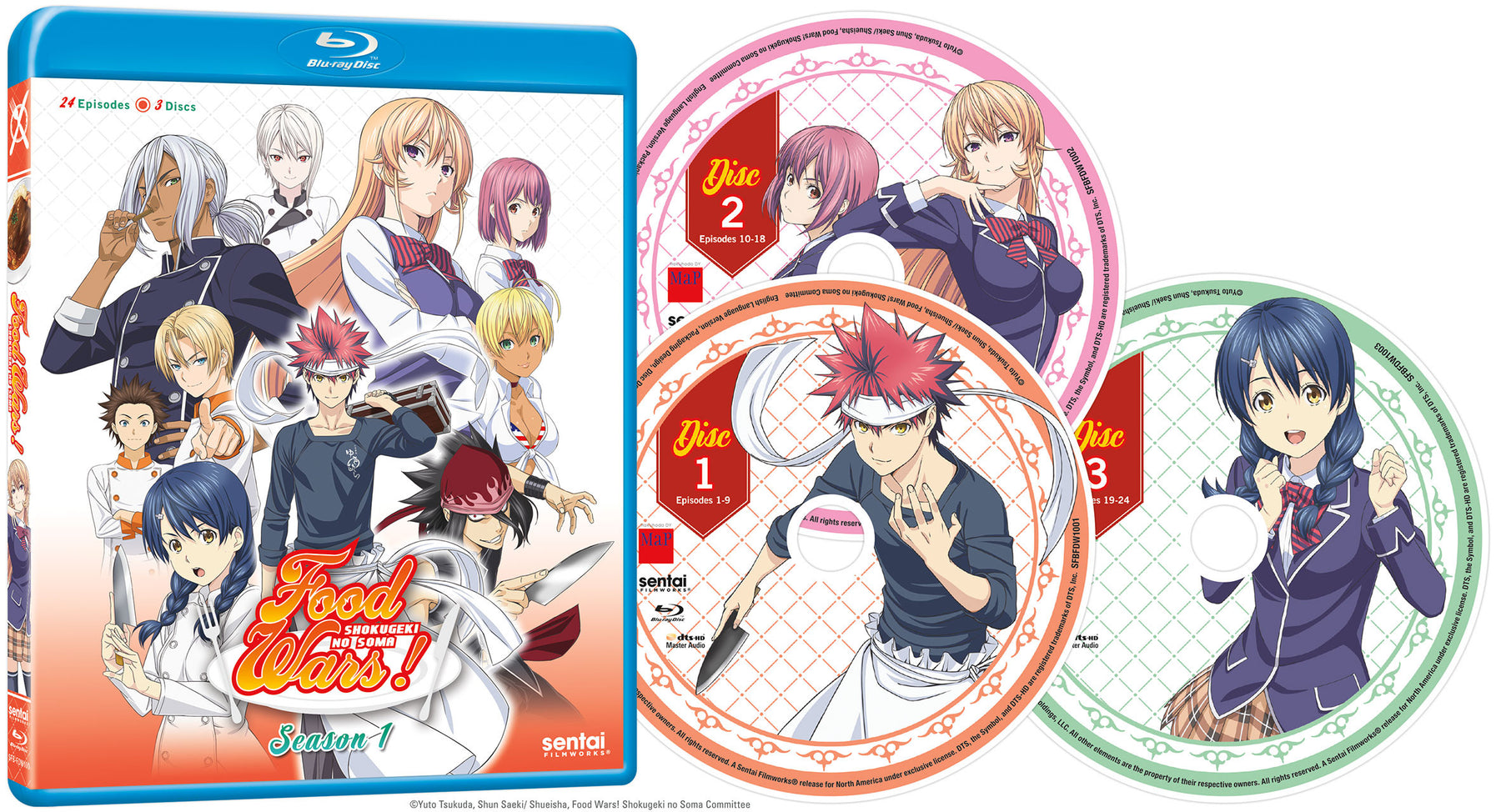 Food Wars! Complete Collection Blu-ray Disc Spread