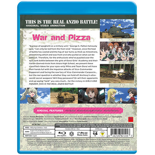 Girls und Panzer: This is the Real Anzio Battle! Blu-ray Back Cover