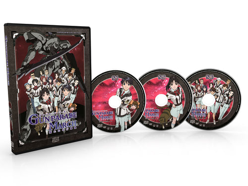 Gunparade March Complete Collection DVD Disc Spread