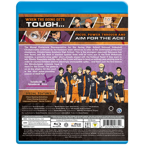 Haikyu!! Season 3 Complete Collection Blu-ray Back Cover