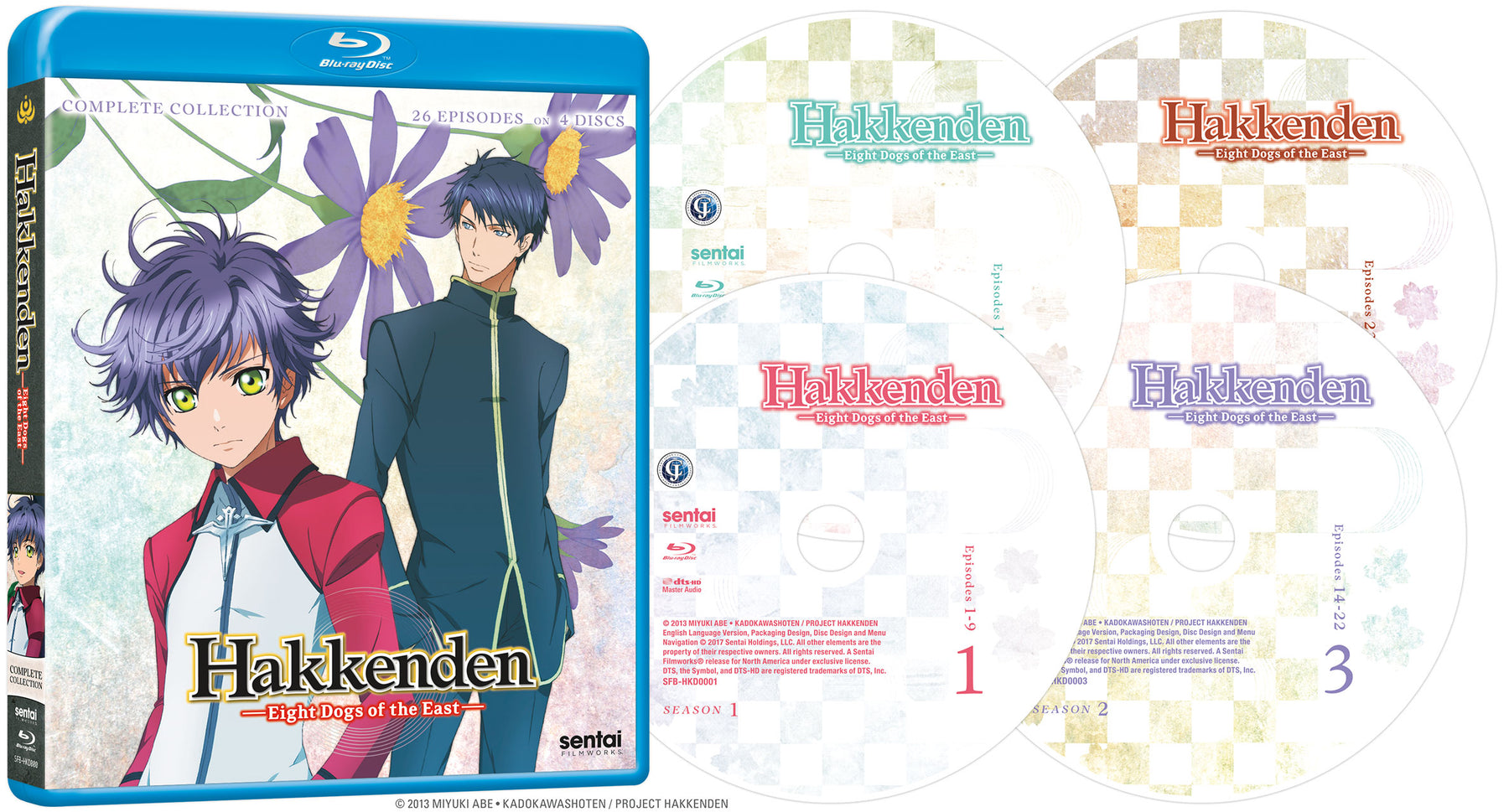 Hakkenden: Eight Dogs of the East Complete Series Blu-ray Disc Spread