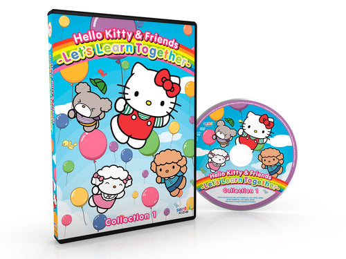 Hello Kitty & Friends – Let's Learn Together Collection 1 DVD Disc Spread