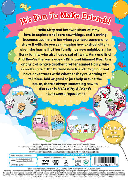 Hello Kitty & Friends – Let's Learn Together Collection 1 DVD Back Cover
