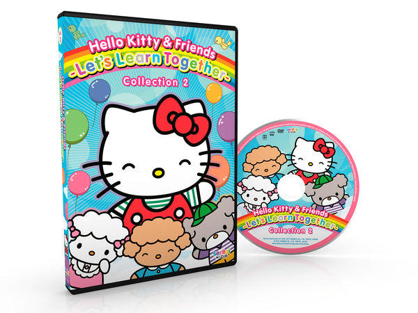 Hello Kitty & Friends – Let's Learn Together Collection 2 DVD Disc Spread