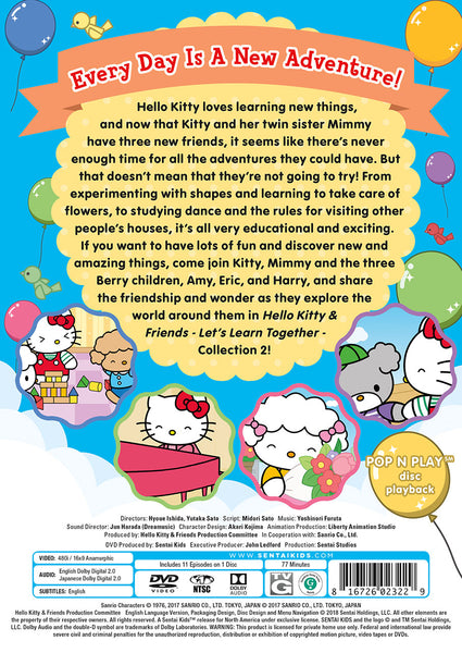 Hello Kitty & Friends – Let's Learn Together Collection 2 DVD Back Cover