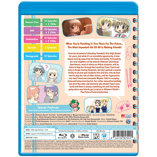 Hidamari Sketch Picture Perfect Collection Blu-ray Back Cover