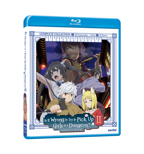 Is It Wrong to Try to Pick Up Girls in a Dungeon? II Complete Collection Blu-ray Front Cover