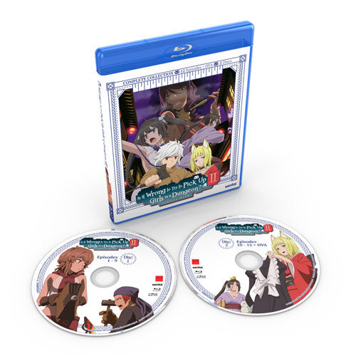 Is It Wrong to Try to Pick Up Girls in a Dungeon? II Complete Collection Blu-ray Disc Spread
