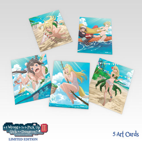 Is It Wrong to Try to Pick Up Girls in a Dungeon? II Premium Box Set Art Cards