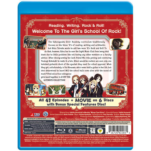 K-ON! Ultimate Collection Blu-ray Back Cover