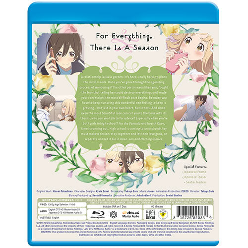 Kase-san and Morning Glories Complete Collection Blu-ray Back Cover