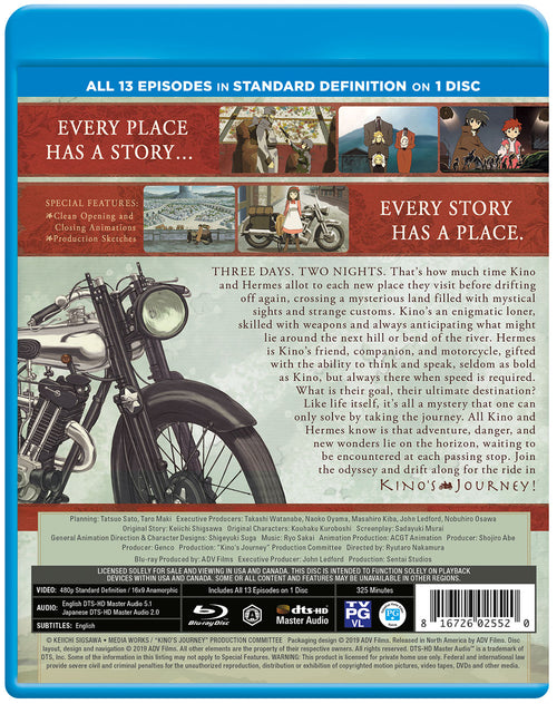 Kino's Journey Complete Collection SD Blu-ray Back Cover