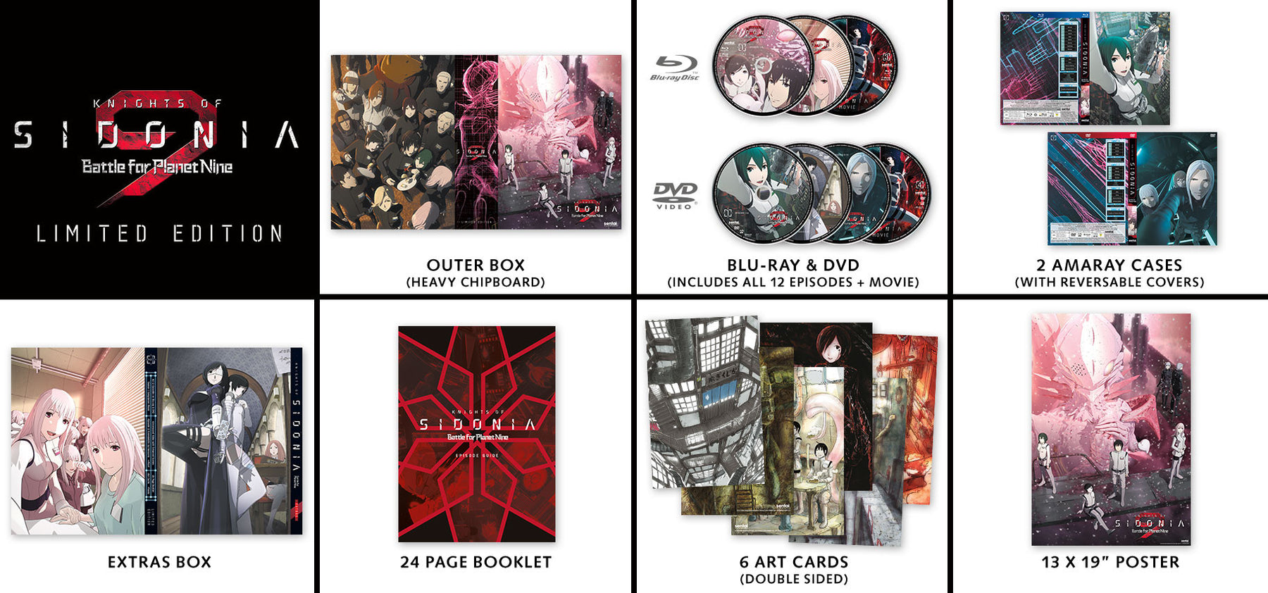 Knights of Sidonia Season 2: Battle for Planet Nine Premium Box Set Contents