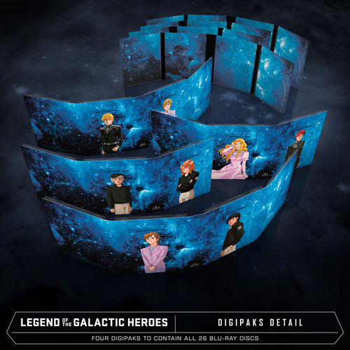Legend of the Galactic Heroes Premium Box Set Digipacks