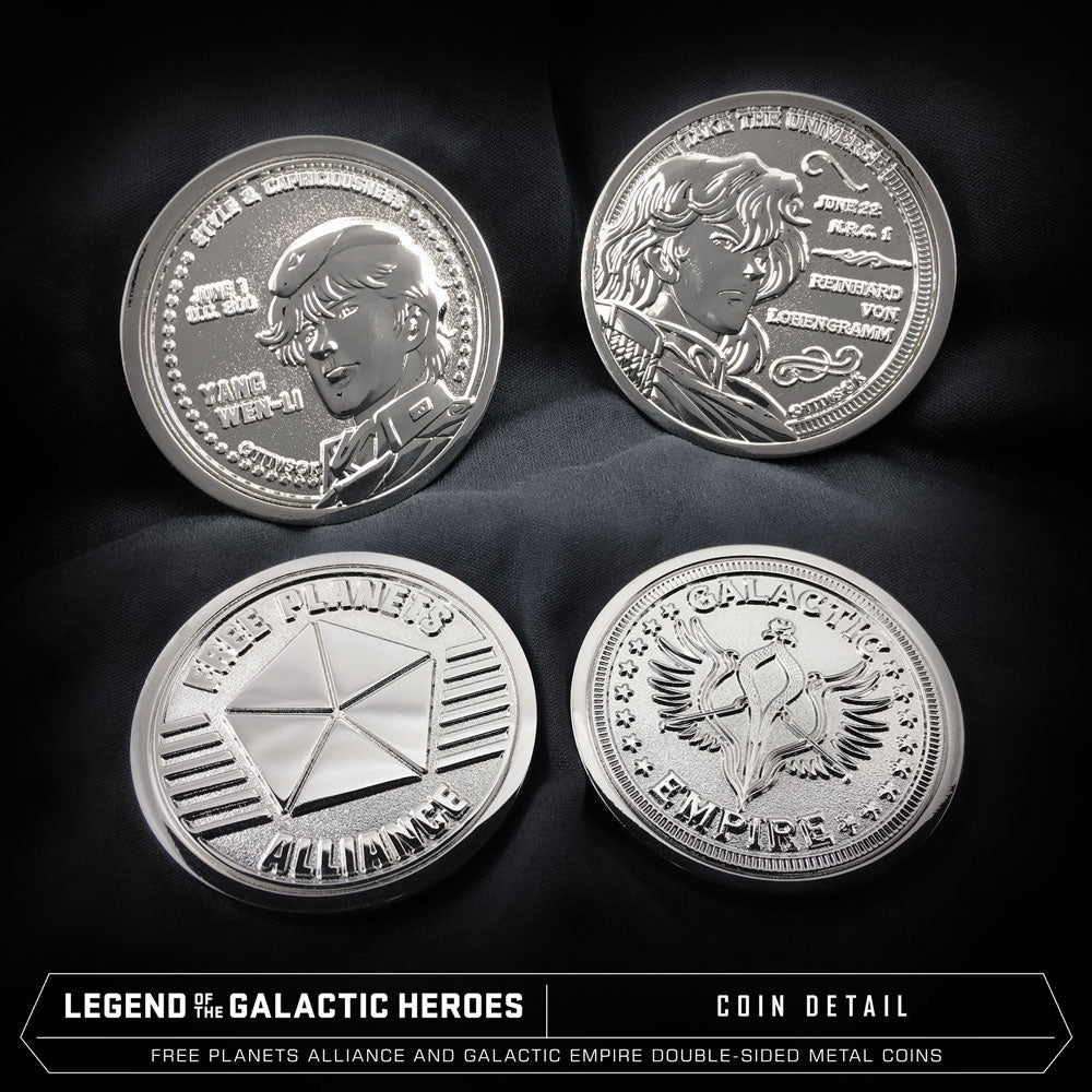 Legend of the Galactic Heroes Premium Box Set Metal Coins