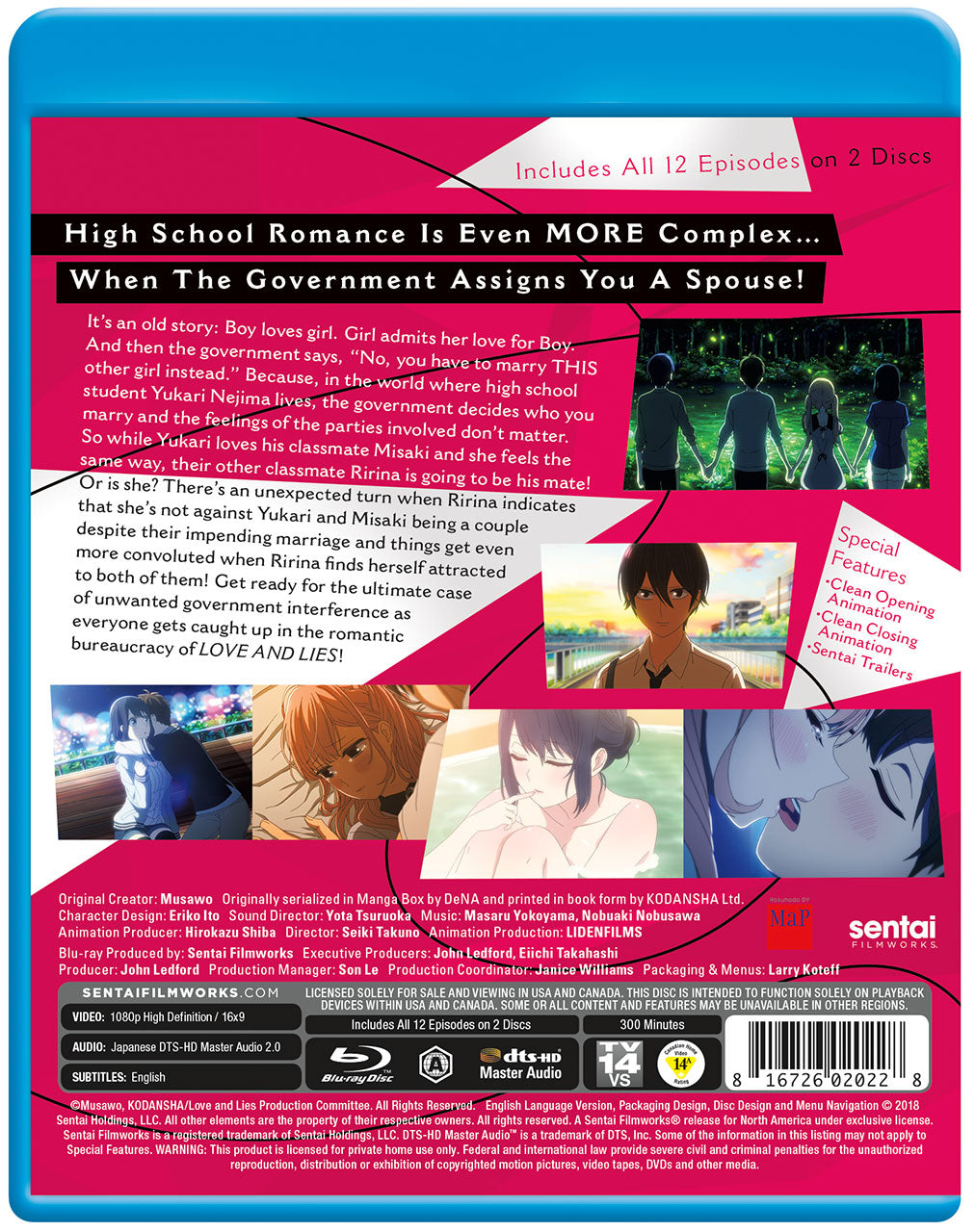 Love and Lies Complete Collection Blu-ray Back Cover