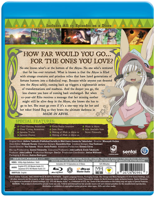 Made in Abyss Complete Collection Blu-ray Back Cover