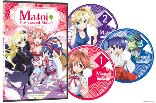 Matoi the Sacred Slayer Complete Collection DVD Disc Spread