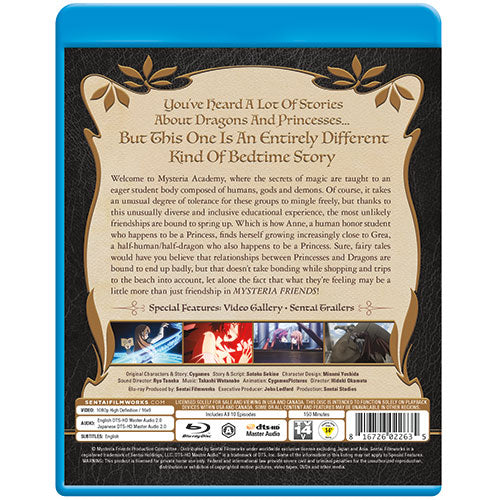 Mysteria Friends Complete Collection Blu-ray Back Cover