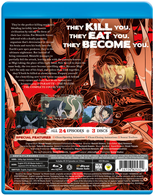 Parasyte -the maxim- Complete Collection Blu-ray Back Cover