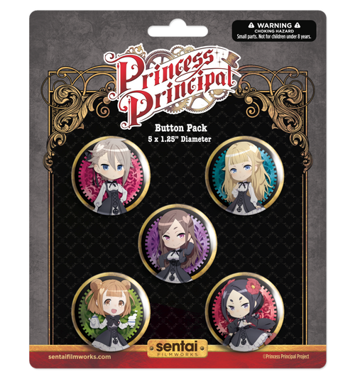 Princess Principal 5 Button Pack