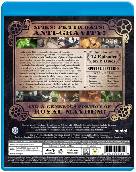 Princess Principal Complete Collection Blu-ray Back Cover