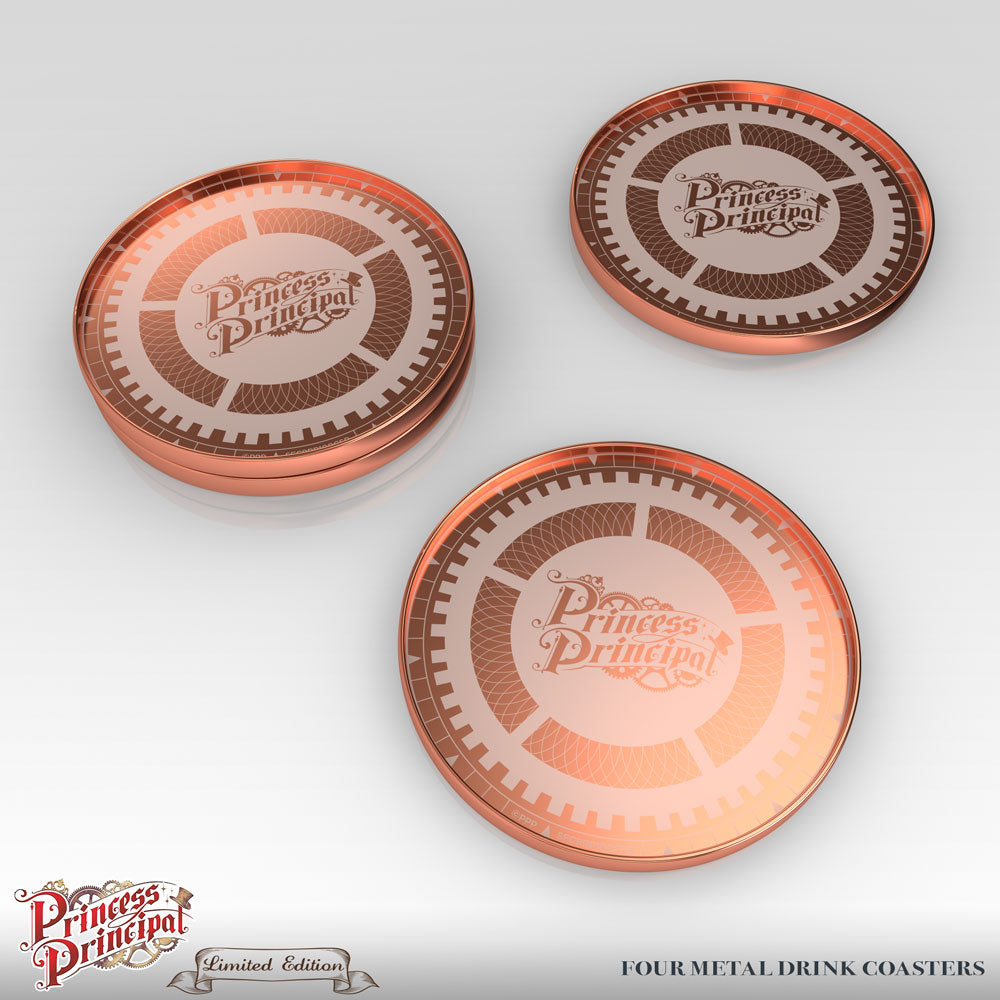 Princess Principal Premium Box Set Metal Coasters