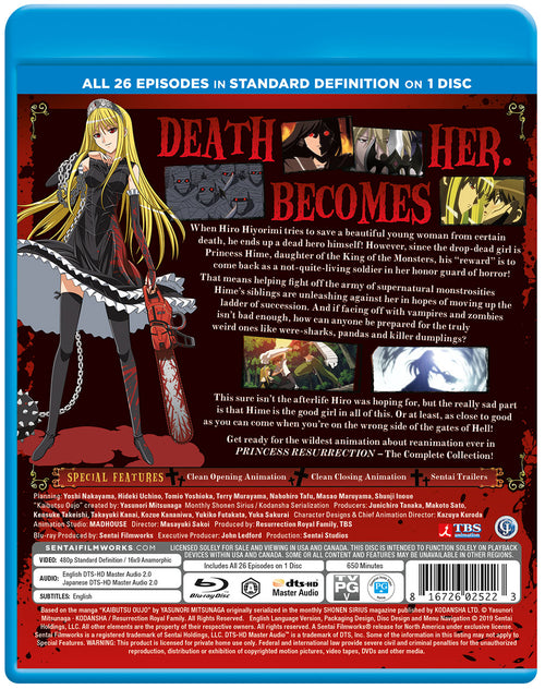 Princess Resurrection Complete Collection SD Blu-ray Back Cover