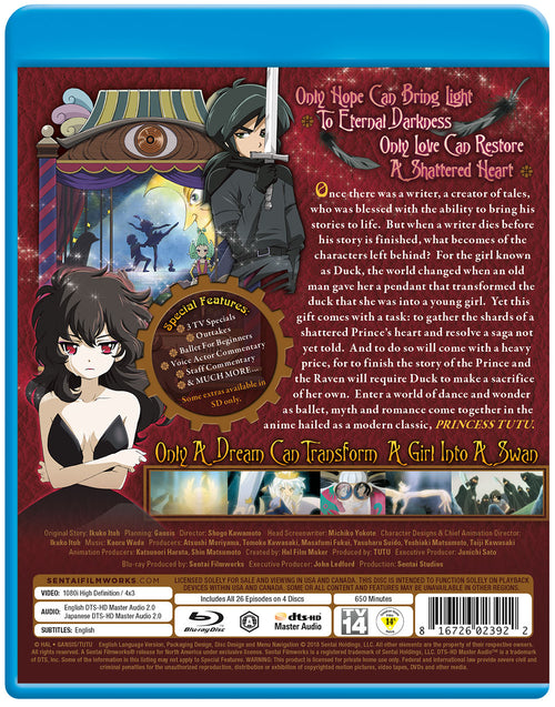 Princess Tutu Complete Collection Blu-ray Back Cover