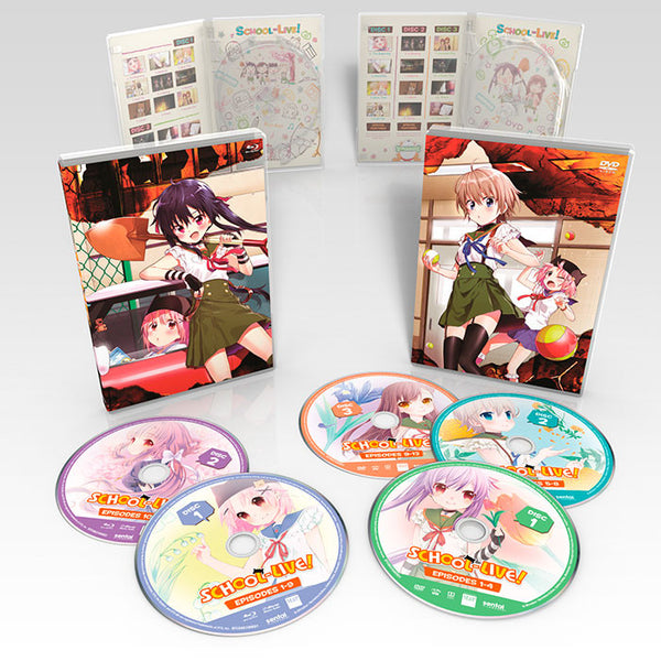 SCHOOL-LIVE! Premium Box Set Blu-ray and DVD Spread