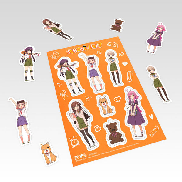 SCHOOL-LIVE! Premium Box Set Sticker Sheet