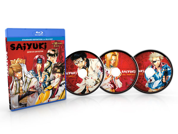 Saiyuki Complete Collection SD Blu-ray Disc Spread