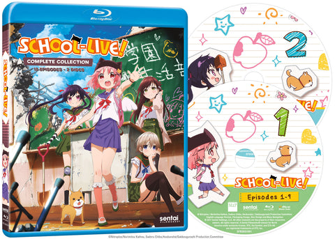 SCHOOL-LIVE! Complete Collection Blu-ray Disc Spread