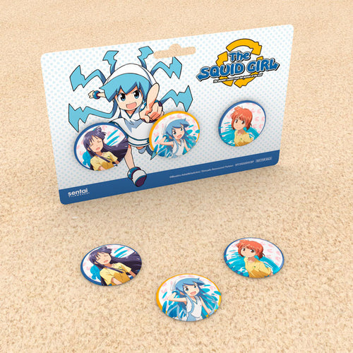 Squid Girl Seasons 1 & 2 Premium Box Set Pin Set