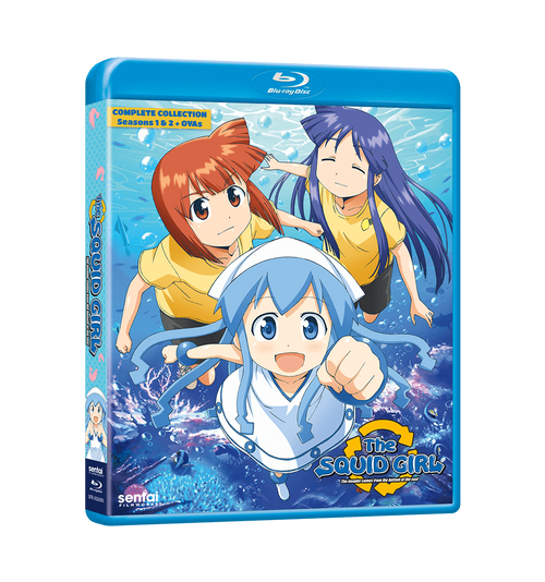 Squid Girl Seasons 1 & 2 Complete Collection Blu-ray Front Cover