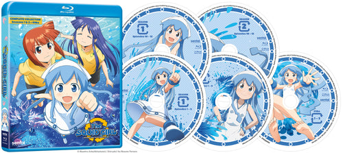 Squid Girl Seasons 1 & 2 Complete Collection Blu-ray Disc Spread