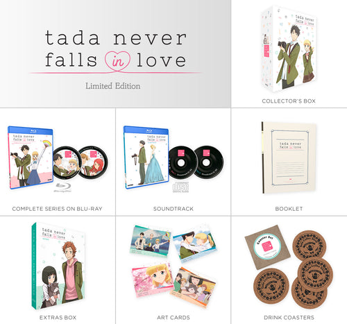 Tada Never Falls in Love Premium Box Set Contents