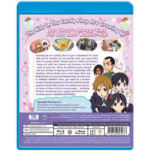 Tamako Market Love Story Collection Blu-ray Back Cover