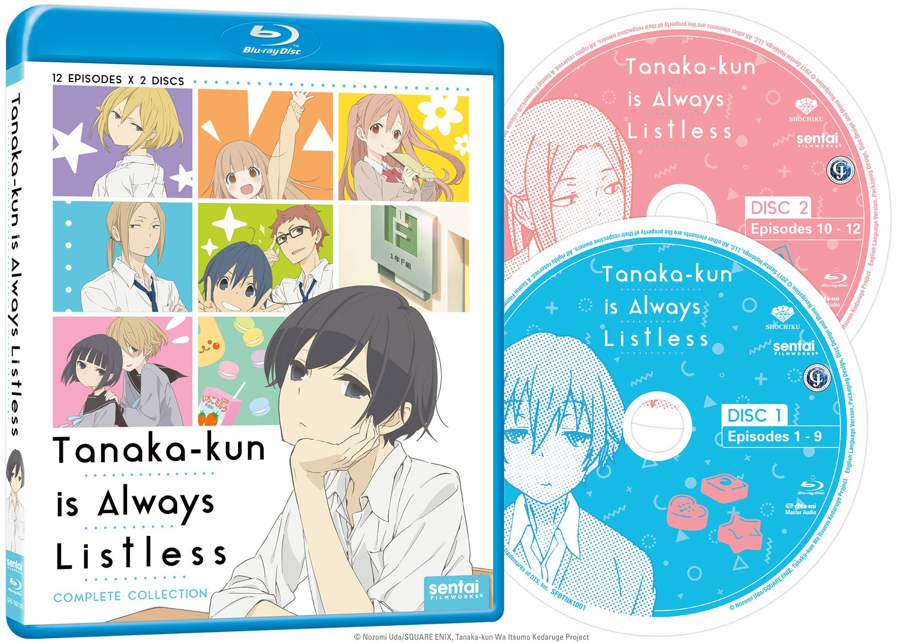 Tanaka-kun is Always Listless Complete Collection Blu-ray Disc Spread