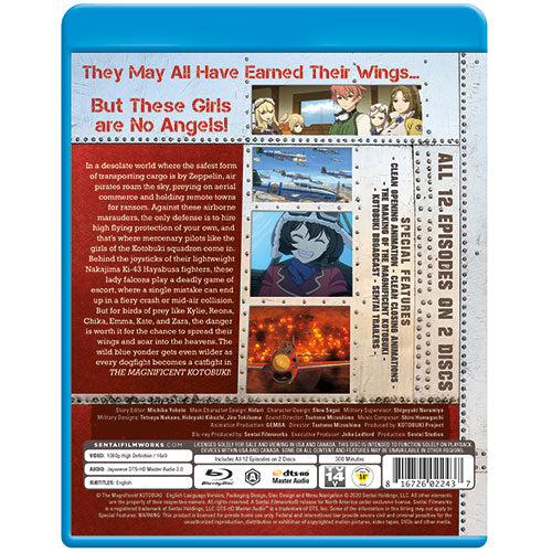 The Magnificent KOTOBUKI Complete Collection Blu-ray Back Cover