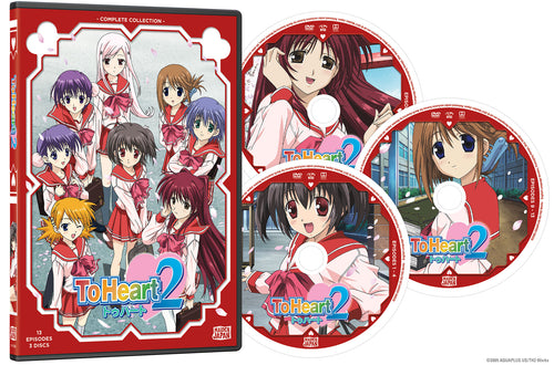 To Heart 2 Complete Collection DVD Disc Spread
