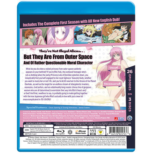 To Love Ru Season 1 Complete Collection Blu-ray Back Cover