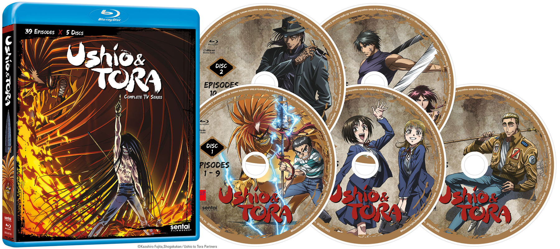 Ushio & Tora Complete Collection Blu-ray Disc Spread