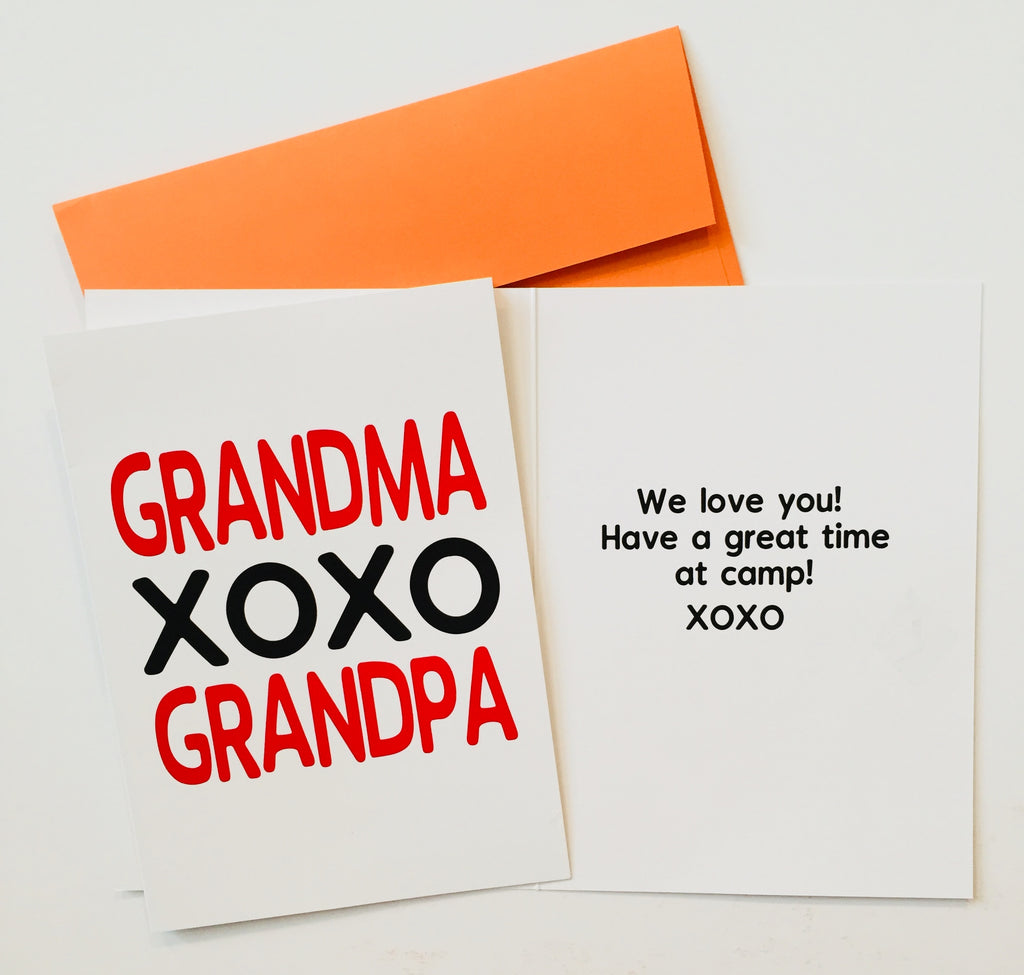 Grandparents Pack Summer Camp Greeting Cards Set Of 3 Sunny