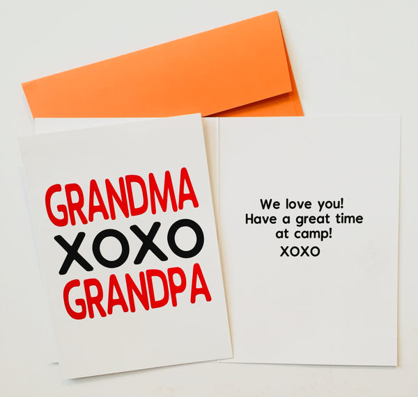GRANDPARENT'S PACK-Summer Camp Greeting Cards Set of 3