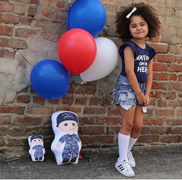 The Patriot - custom designed pillow doll with complimentary mini